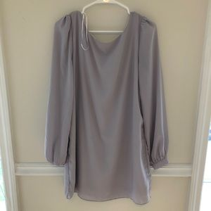 Lulu's Dresses - Grey Lulus Long Sleeve Dress - Medium